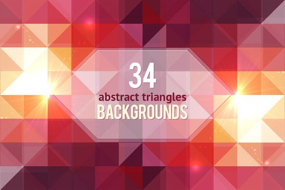 Check out 34 geometric abstract backgrounds by Art-of-Sun on Creative Market