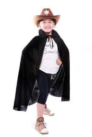 Бесплатная доставка хэллоуин костюмы / ведьма волшебница ребенок плащ / плащ с морской пират шляпа
