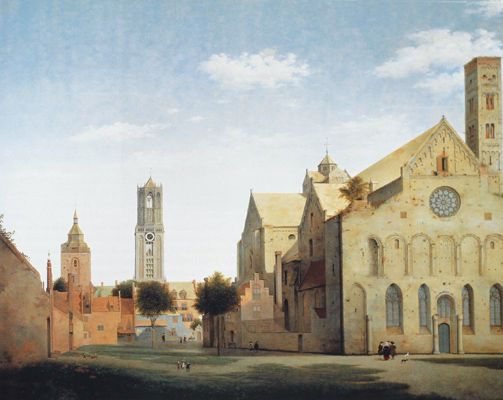 St Mary's Square and St Mary's Church at Utrecht, Pieter Janz. Saenredam (1597-1665)