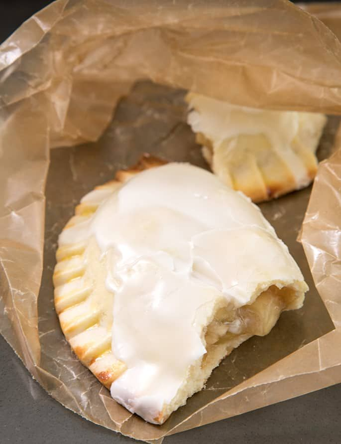 These gluten free mini apple pies are just like McDonald's or Hostess fruit pies, but baked and not fried, with a warm chunky apple filling.