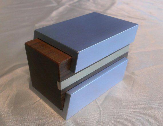 Custom Ring Box Wooden Trinket Box Engagement Ring Box Wood and Metal Box Wedding Ring Box Proposal Ring Box 10th Anniversary Gift