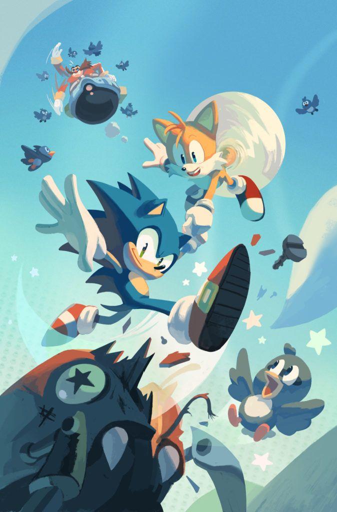 Meet The Artist Nathalie Fourdraine Of Idw S Sonic The Hedgehog Sonic The Hedgehog Sonic Hedgehog Art