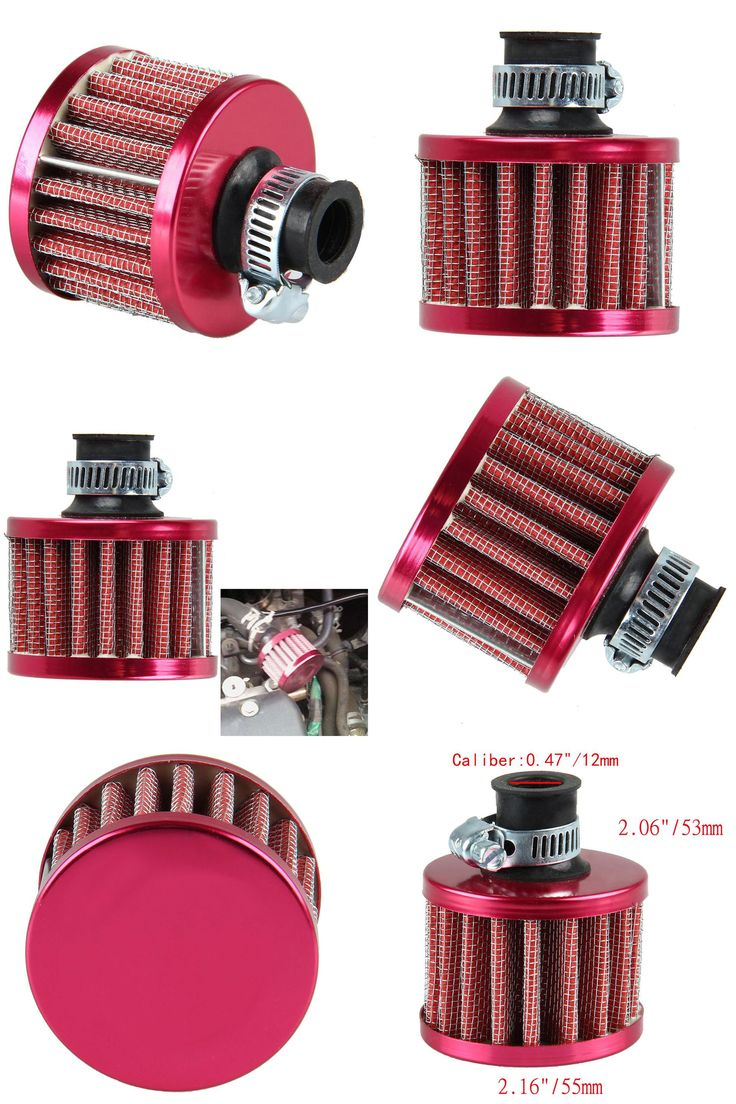 [Visit to Buy] 12mm Mini Car Air Filter Car Motor Cold Air Intake Filter Turbo Vent Crankcase Breather Red #Advertisement