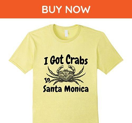 Mens I Got Crabs In Santa Monica Funny Graphic T-Shirt 2XL Lemon - Holiday and seasonal shirts (*Amazon Partner-Link)