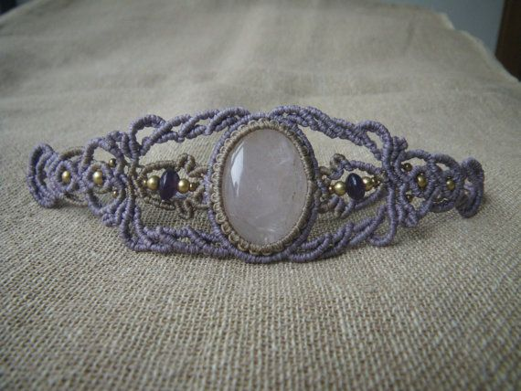 Rose Quartz bracelet with Amethyst beads made by by RamanaGems