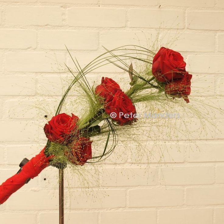 special weddingbouquet for a special couple / speciaal bruidsboeket voor een bijzonder bruidspaar / Rosa Red Naomi!