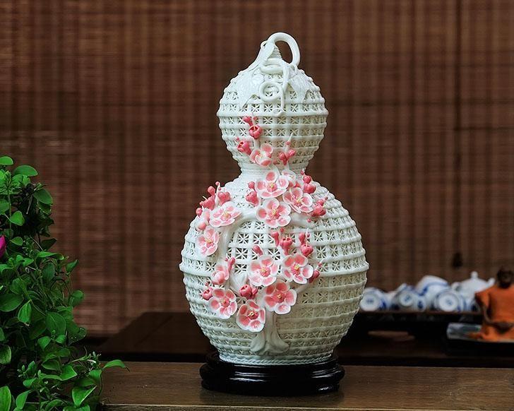 бехан сША цзиндэчжэнь керамическая ваза для цветов ваза ручной работы просто мода разминание сливы