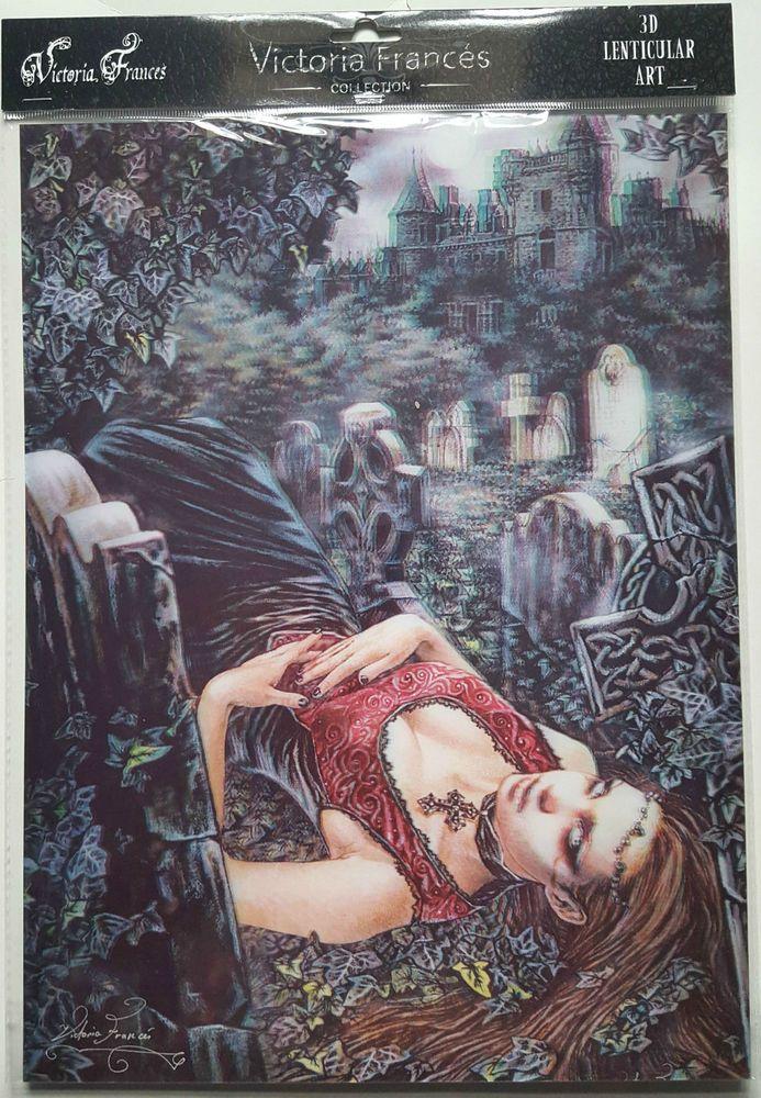 Brand New Licensed 3D Lenticular Victoria Frances LECHO DE MUERTE Vampire Gothic