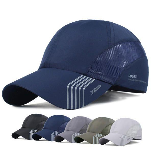 Mens Thin Breathable Quick Dry Hats Outdoor Sunshade Mesh Baseball Caps Banggood Mobile Mesh Baseball Cap Mens Caps Baseball Hats
