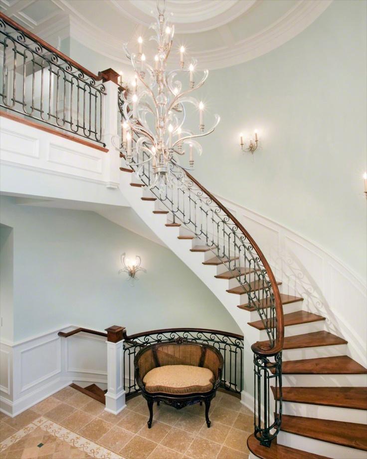 Grand Foyer Staircase: 31 Best Entry Foyer Images On Pinterest