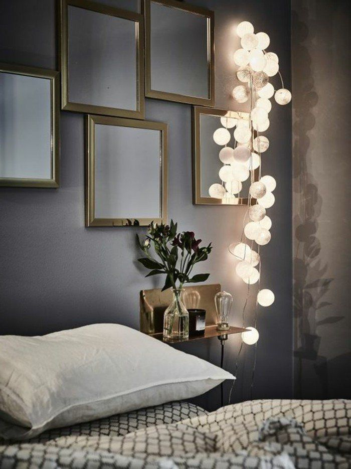 25 best ideas about guirlande lumineuse chambre sur pinterest deco cocooning guirlande de. Black Bedroom Furniture Sets. Home Design Ideas