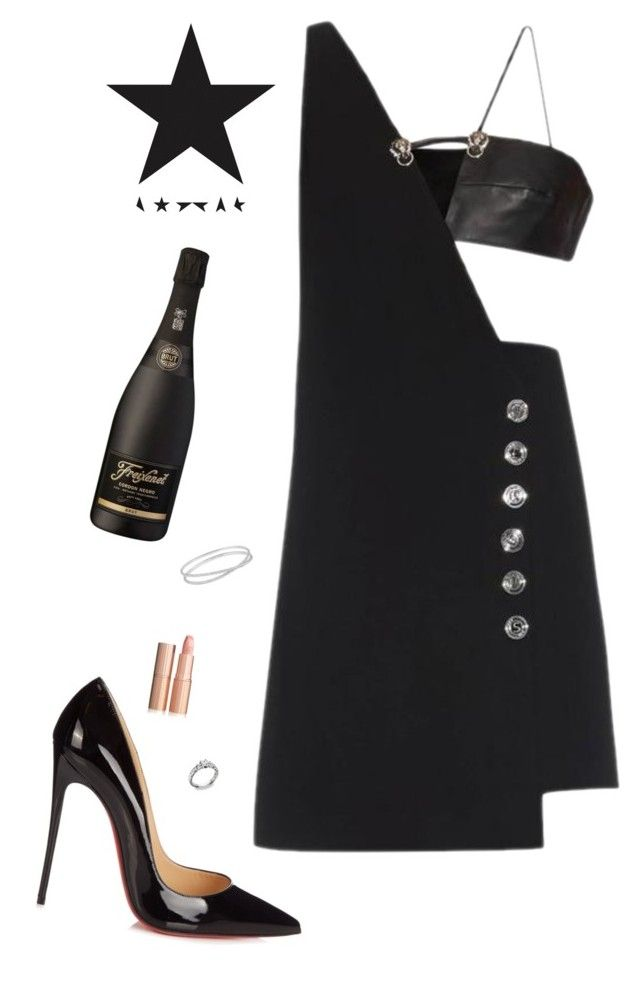 """#13"" by heelsandgo on Polyvore featuring Versus, Christian Louboutin and Maison Margiela"