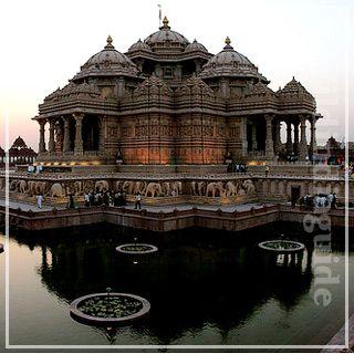 Akshardham templo hindú en el sur de Delhi
