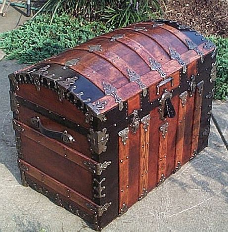 Antique Trunks For Sale | 336-dome-top-antique-trunks-for-sale-3qtr-small.jpg