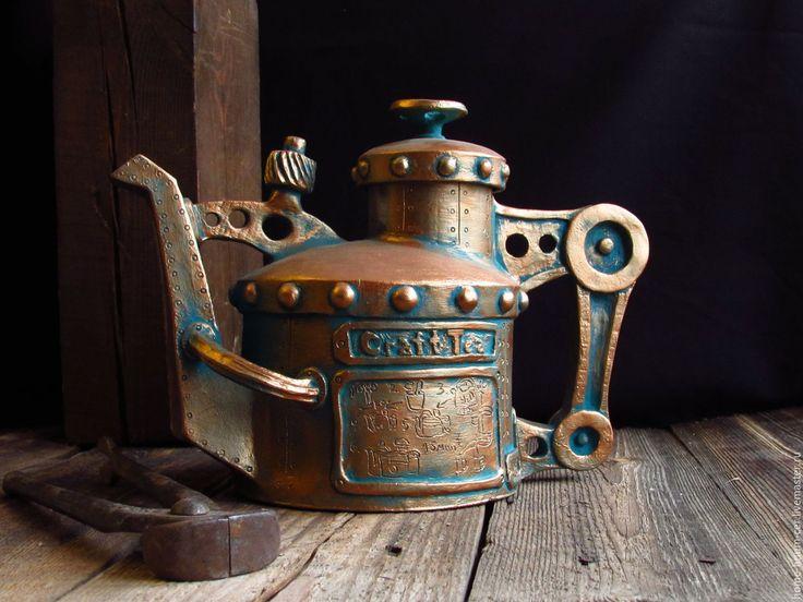 """Купить Заварочный чайник """"Craft Tea"""" - Керамика, керамика ручной работы, бронза, керамический чайник"""