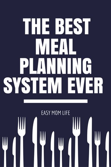 This really is the best way to meal plan!