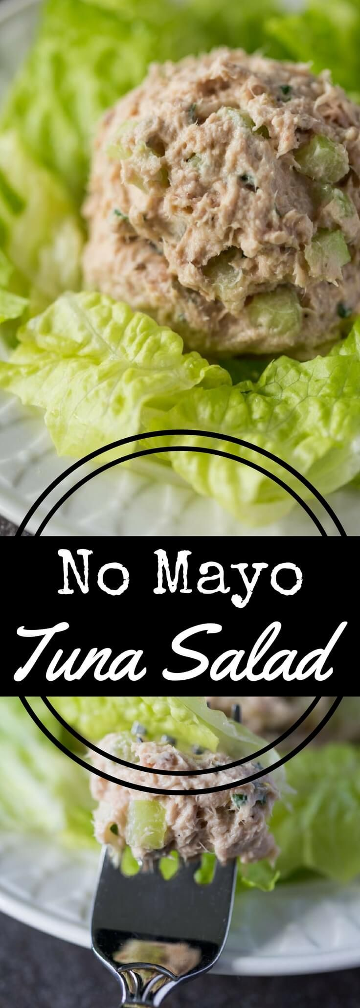 #ad Yes, tuna salad without mayonnaise can be delicious! Try this No Mayo Tuna Salad recipe with fresh parsley, lemon zest, celery, and Greek yogurt. Fresh, light, flavorful, and perfectly suited for topping sandwiches or green salads. via @recipeforperfec @bellaportofino #BellaPortofino #IC