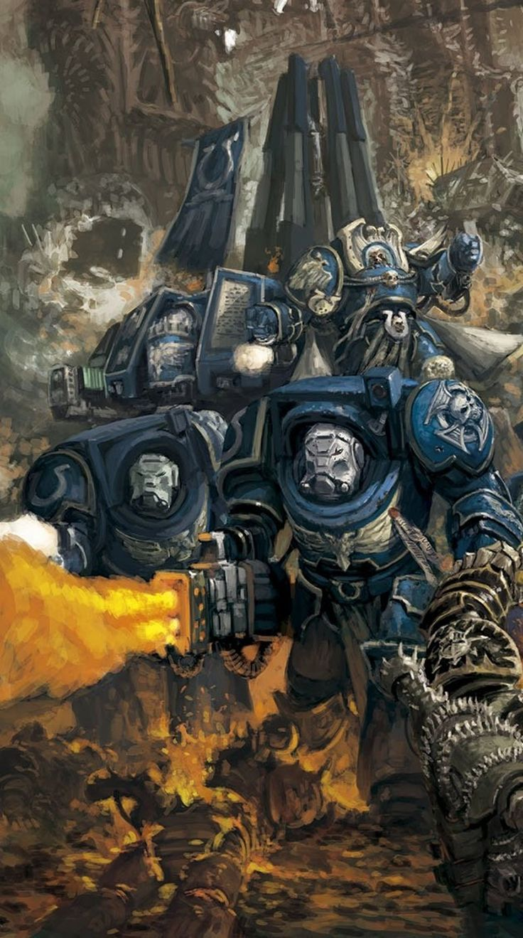 Terminators are Space Marines who have had centuries of service to the Emperor, and have earned the right to wear Terminator or Tactical-Dreadnought armor