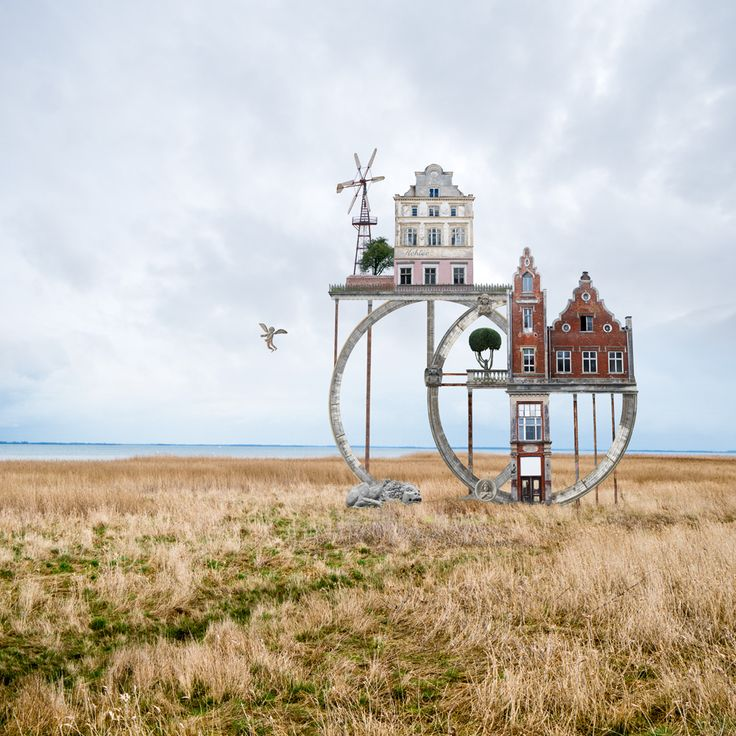 Architectural Collages That Double as Visual Poems by Matthias Jung