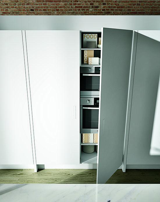 Mueble para ocultar electrodomesticos.  Diseño limpio.