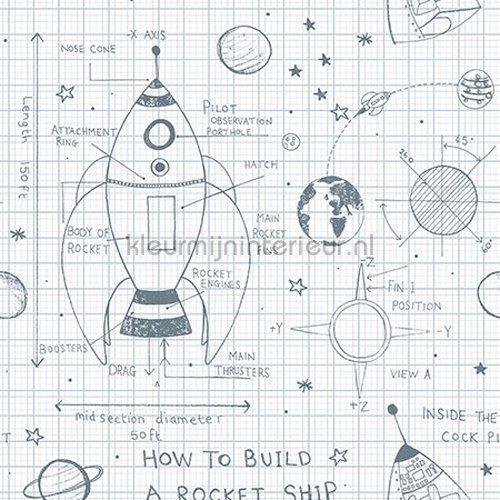 How to Build a Rocketship behang KJ50100 uit de collectie Pajama Party van Wallquest online bestellen bij kleurmijninterieur