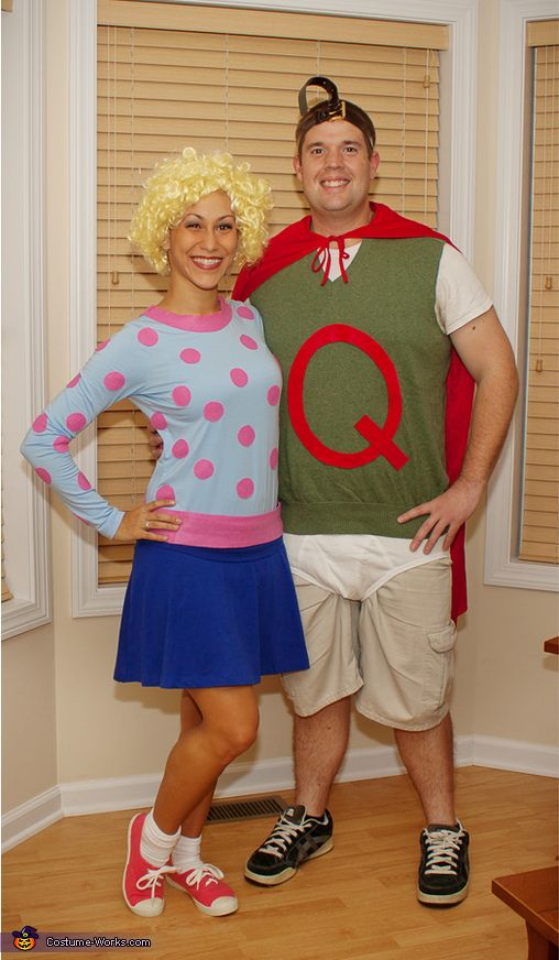 Brittany: We introduce you to Doug Funnie's super hero, Quailman and his crush Patti Mayonnaise! Throwback to 90s Nickelodeon cartoons! This Halloween my boyfriend and…