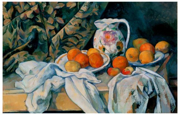 Paul Cezanne Still Life with a Curtain Art Poster 11x17