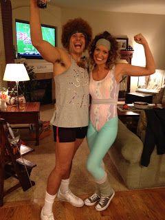 Couples Halloween Costume Richard Simmons and aerobic girl.