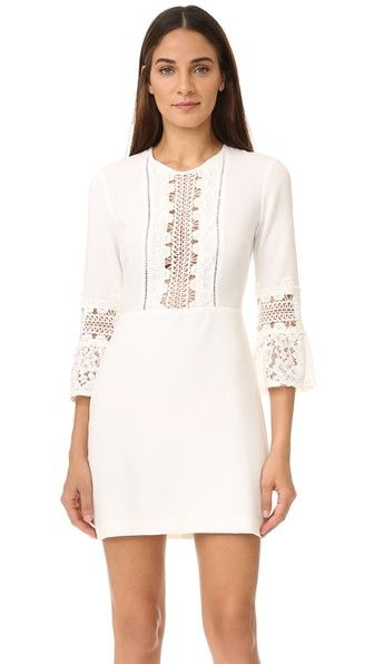 WAYF Somerset Lace Trim Dress