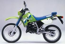 KAWASAKI KMx 125 1989 - mine's was black & red, just something to mess with during the summer (still had a car)