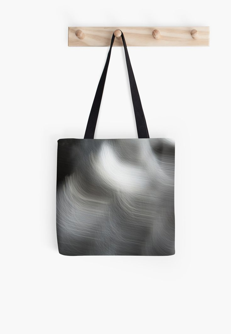 Black and White Abstract Flying Birds tote bag by Galerie 503