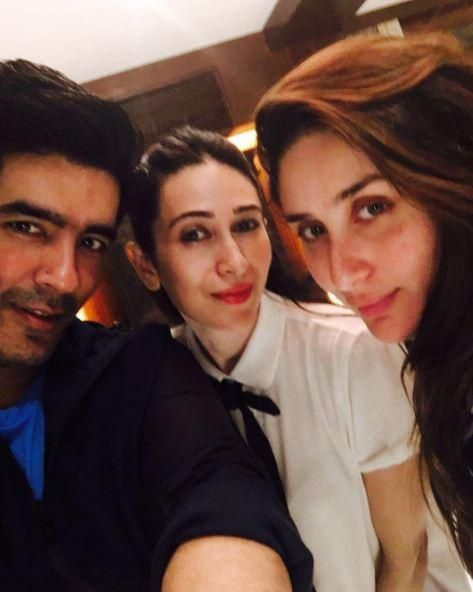 It's selfie time for the Kapoor sisters and buddy Manish