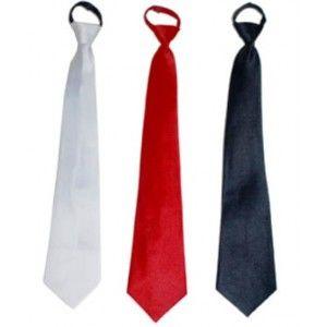 Cravate noire adulte, accessoire déguisement, fêtes.