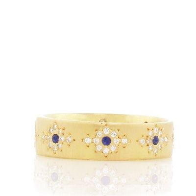 Diamond and Sapphire Shimmer Band   ADEL CHEFRIDI