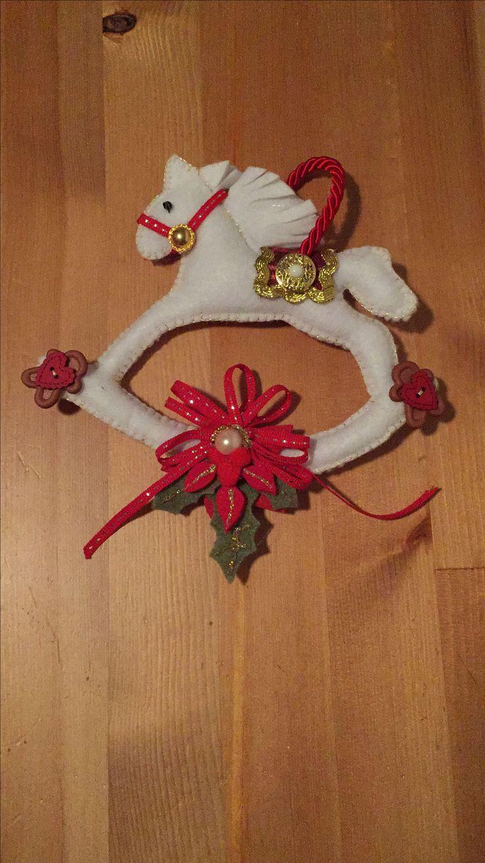 Christmas felted decoration: pony toy 🐴 🎄❤️
