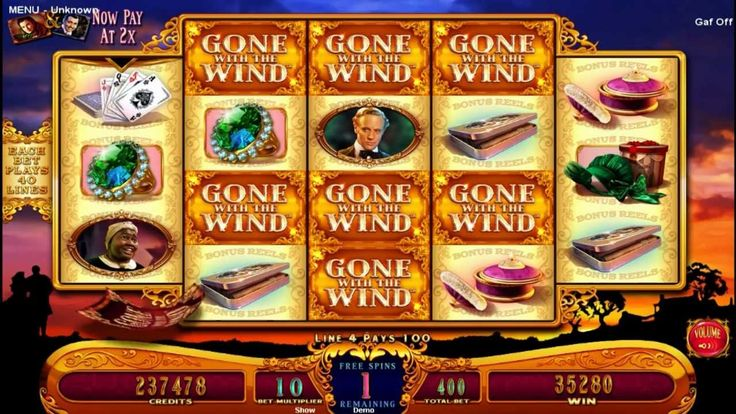 Free Spin Bonus from GONE WITH THE WIND slots by WMS
