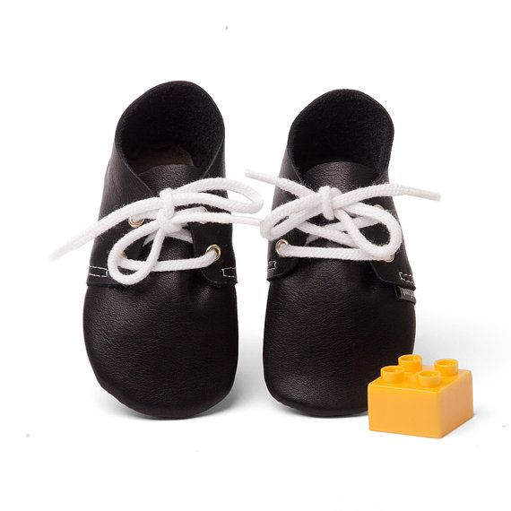 Baby shoe leather baby shoes black baby by lenfantbabyshoes