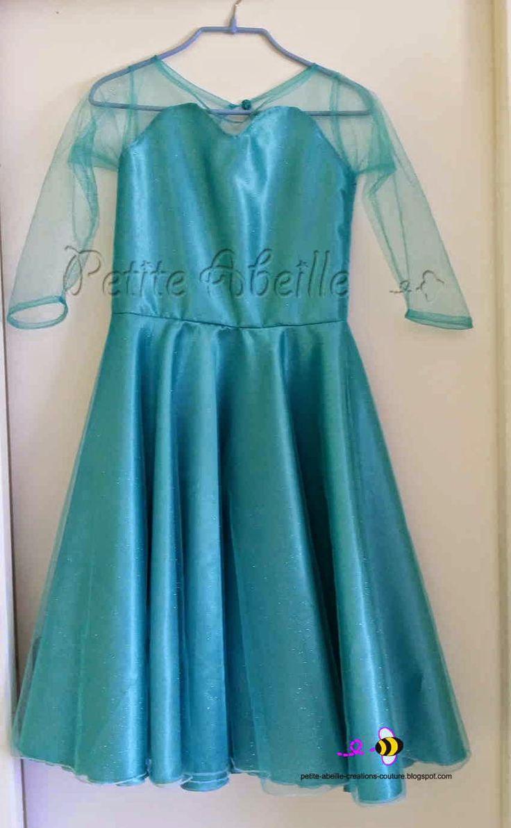 Créations originales pour petits bouts de choux: Robe Reine des neiges