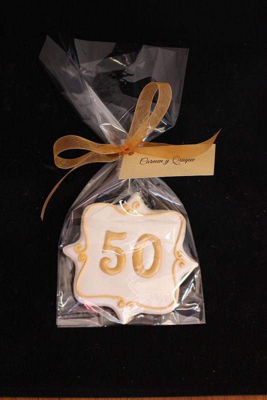50th Anniversary Cookies, Anniversary Favors, Golden Anniversary Cookie, Wedding Cake Cookies, www.SweetSceneBakery.com