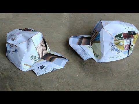 Hut Aus Papier Falten Hadi Tahir Youtube Origami Pinterest