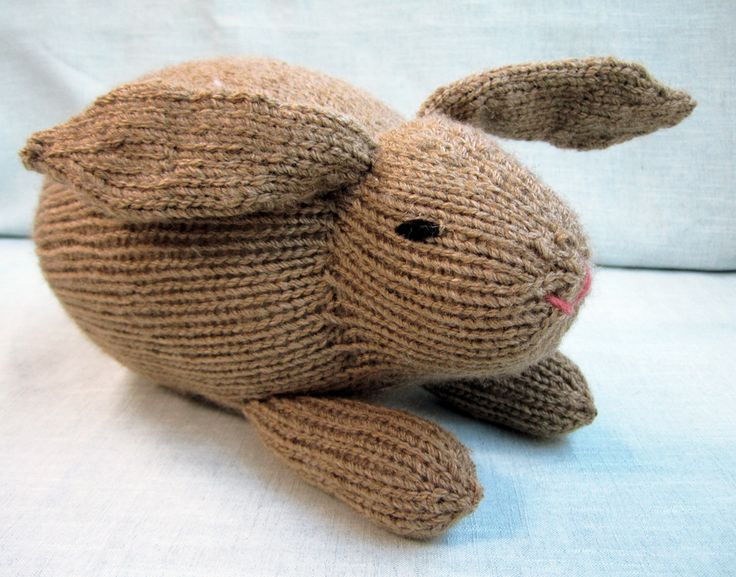 Knitted Rabbit Pattern : 17 Best images about Knitting ? Patterns on Pinterest Free pattern, Cable a...