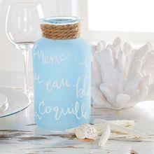 Coastal Script Glass Bottles
