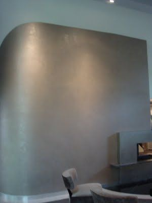 Laurell Banner Faux painting: Silver Wall