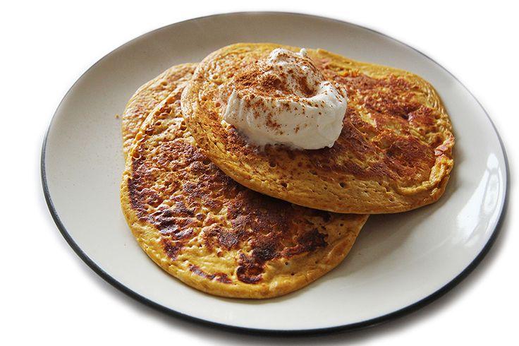 The Best Pumpkin Protein Pancake Recipe Ever // 12-Minute Athlete ...