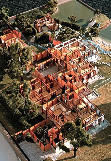A model of the Katsura Imperial Villa by Timothy M. Ciccone.