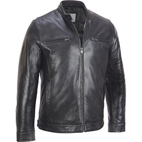 """Banded waist with snap tab on each side. Quilted lining with two open pockets. Send to professional leather cleaner only. Made in China . .       Famous Words of Inspiration...""""If you are gonna kick society in the teeth, you might as well use both...  More details at https://jackets-lovers.bestselleroutlets.com/mens-jackets-coats/leather-faux-leather/product-review-for-wilsons-leather-mens-big-tall-lamb-cycle-jacket/"""