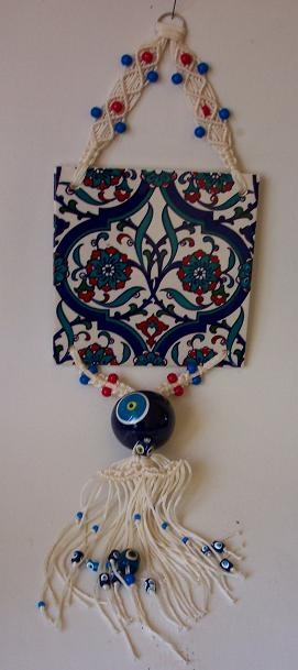Turkish evil eye-ceramic.Use evil eye,everything is ok.