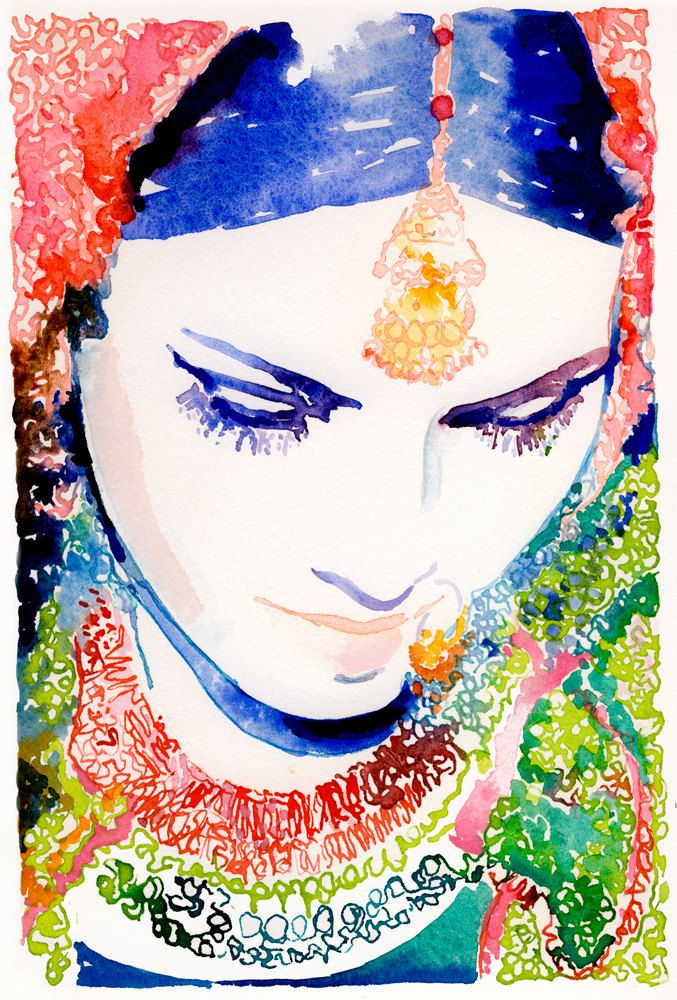 Incorporate Indian Influences. Watercolor Artist: Cate Parr.