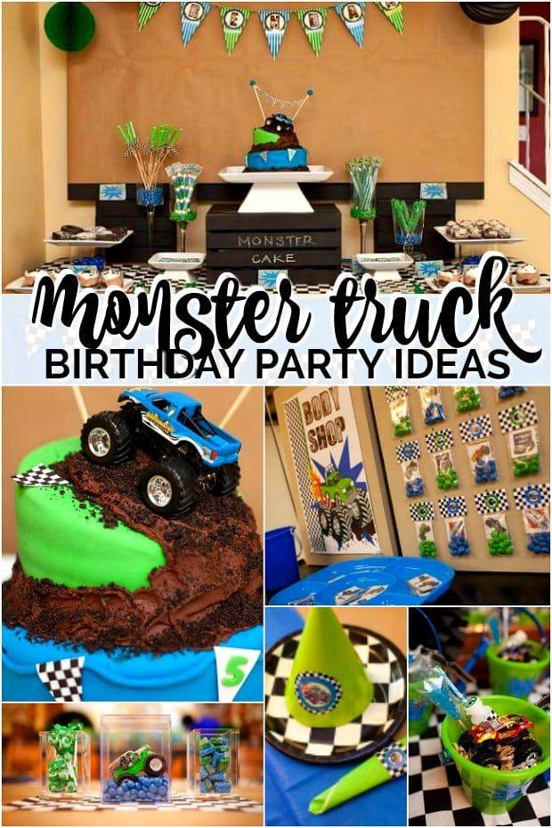 Monster Truck Birthday Party Ideas Monster Truck Theme Birthday Party Truck Theme Birthday Monster Truck Theme Birthday