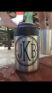 Own YOUR Yeti with your 3 Initials Monogram Decal for Your Yeti Rambler Tumbler Koozie Tervis